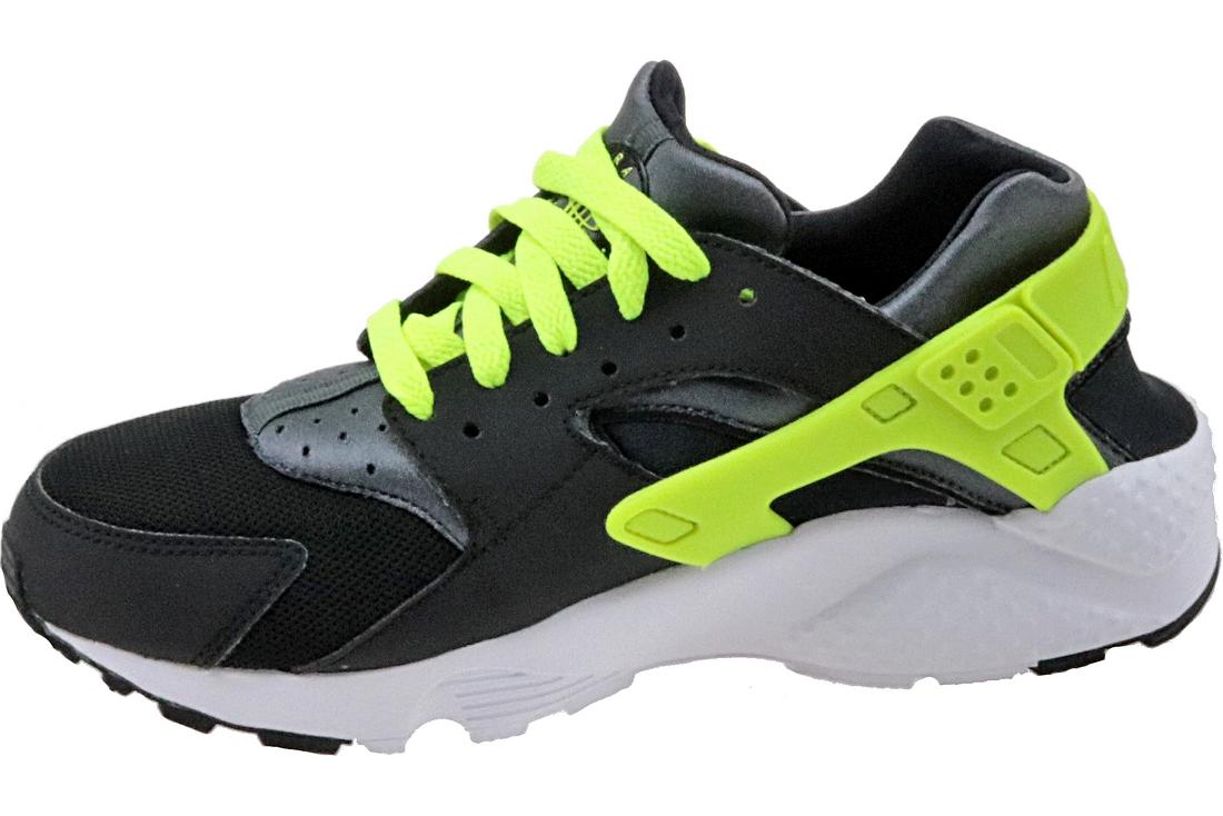 80c14061ec72f Nike Huarache Run Gs 654275-017 Garçon chaussures de sport Noir ...