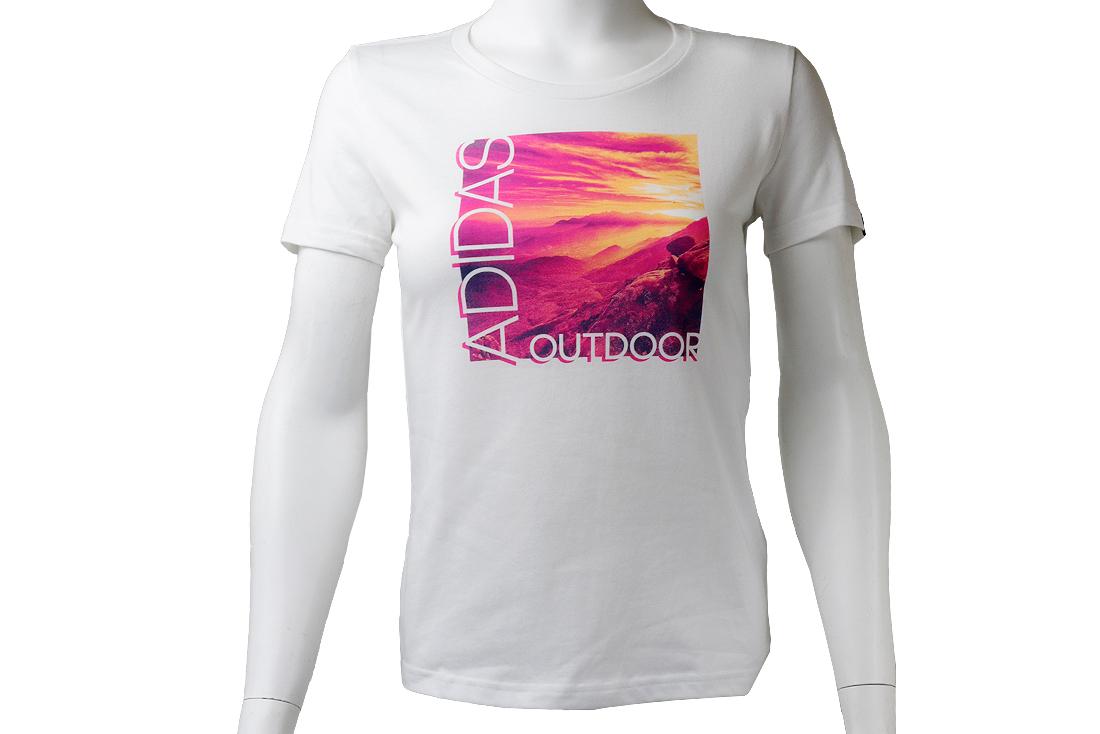107f9afbd4 Adidas ADI Landscape Tee AI5930 Femme t-shirt Olive | Alltricks.com
