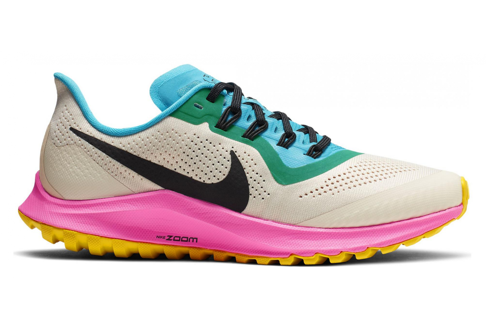 b7f48621d83f Nike Air Zoom Pegasus 36 Trail White Blue Pink Women | Alltricks.com
