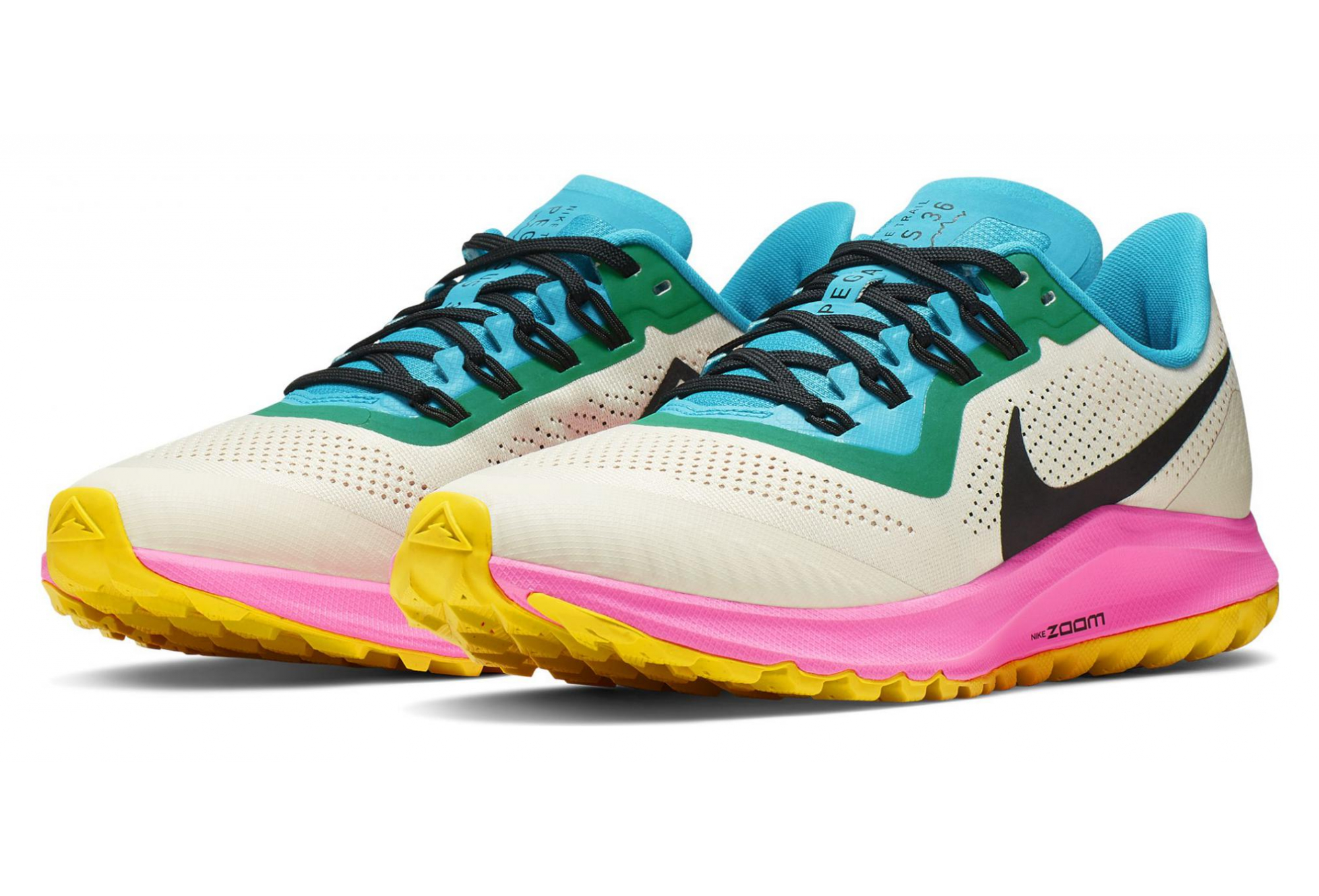 Nike Air Zoom Pegasus 36 Trail Damen Laufschuhe Blau Rosa