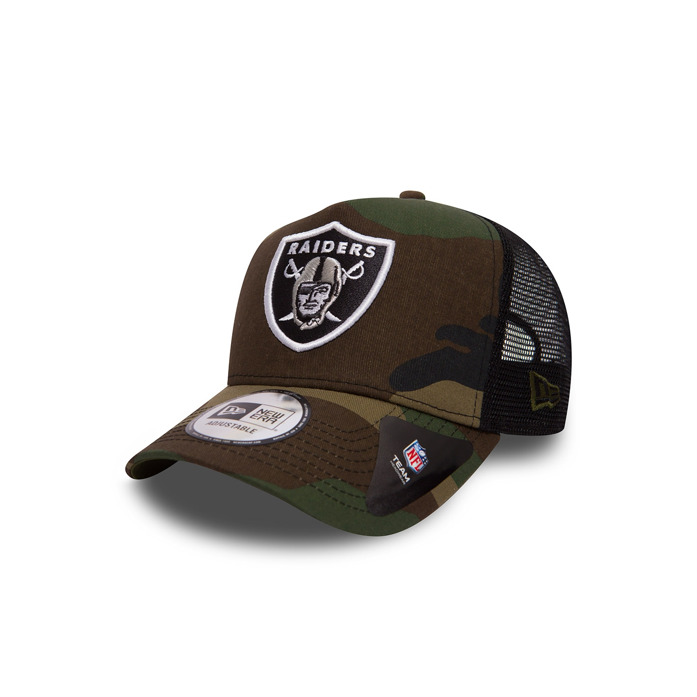 a60d5ab935a Casquette New Era Camo Team Trucker Oakland Raiders