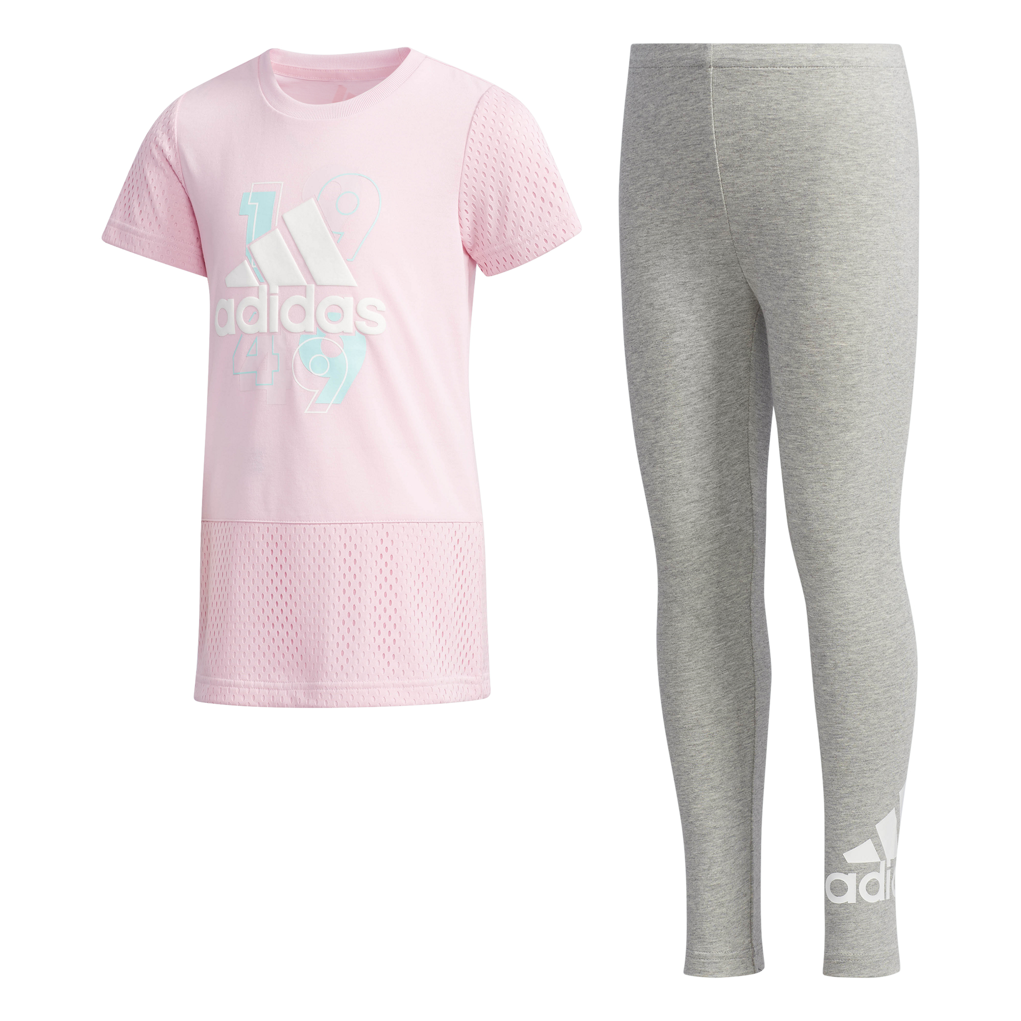 e7f305e090bea Ensemble fille adidas Tee-and-Tights