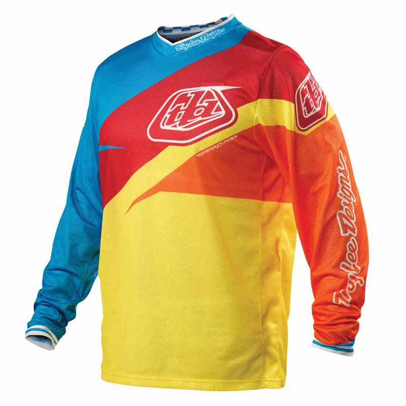 troy lee designs 2012 jersey maillot gp air stinger yellow taille l. Black Bedroom Furniture Sets. Home Design Ideas