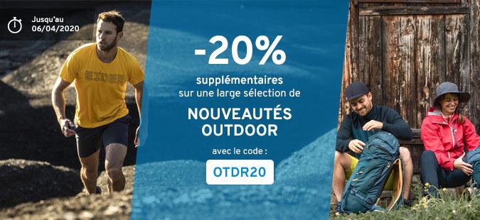 -20% Nouveautés Outdoor