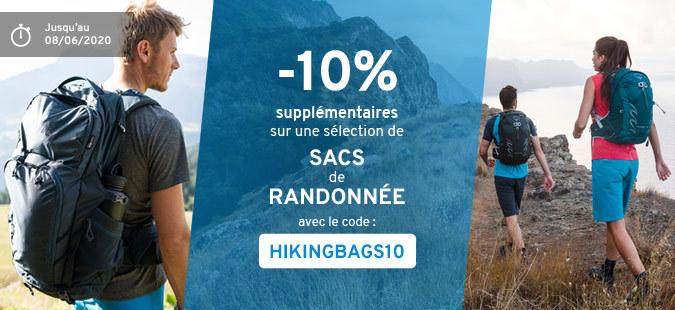 -10% sacs de randonnée