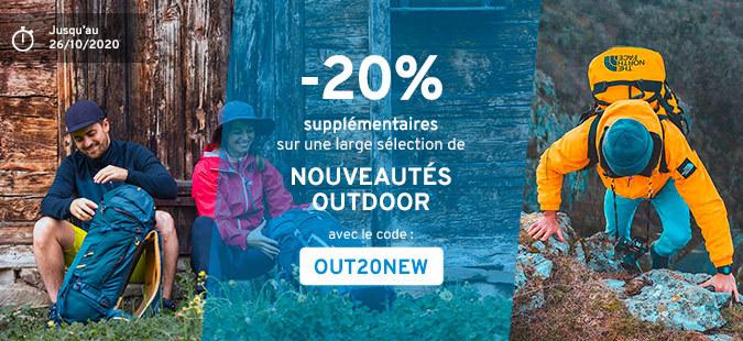 Outdoor Days : -20% sur les nouveautés