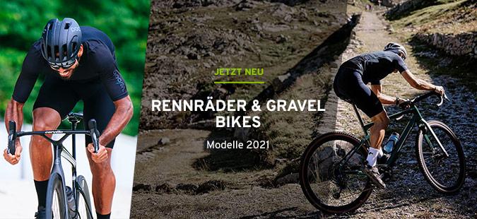 Rennräder und Gravel Bikes