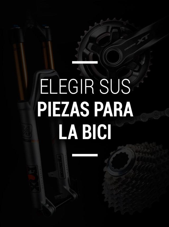 Elegir las piezas de la bicicleta