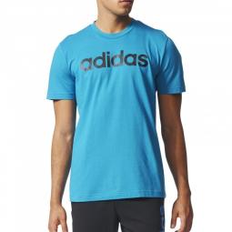 Tee-shirt Logo Bleu Homme Adidas
