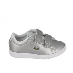 Chaussure bébé LACOSTE Carnaby Evo 317 6 BB Argent