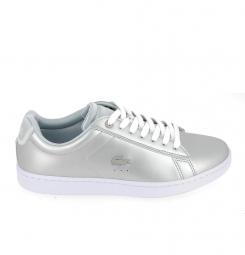Basket mode, SneakerBasket -mode - Sneakers LACOSTE Carnaby Evo 118 Gris Blanc