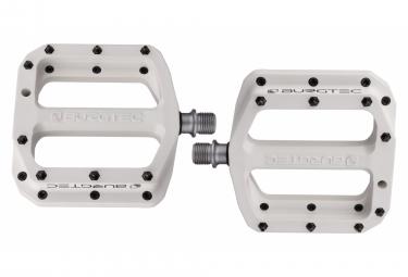 Burgtec mk4 composite flat pedals burgtec white grey