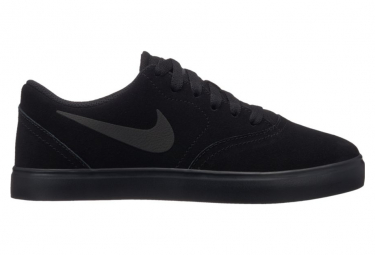 Nike SB Boys Shoes Check Suede Black