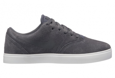 Nike SB Boys Shoes Check Suede Grey / Black