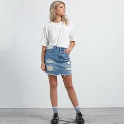 Jean Stoned Mini Skirt