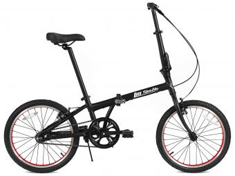 Vélo Pliant FabricBike Folding 20 Noir Mat et Rouge, Aluminium