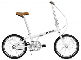 Vélo Pliant FabricBike Folding 20 Blanc Mat et Noir, Aluminium