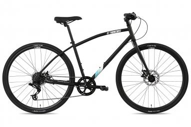 Image of Velo hybride fabricbike commuter 28 sram 8 v freins a disque tektro noir mat s 153 165 cm