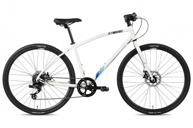 Velo hybride fabricbike 28 chromoly sram 8v freins a disque tektro blanc s 153 165 cm