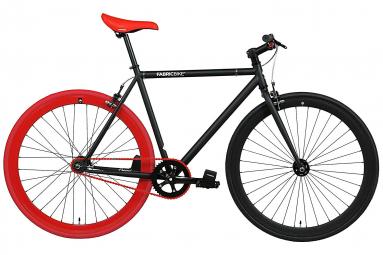 Vélo Fixie FabricBike Original 28 , Fixed Gear, Hi-Ten Acier, Noir et Rouge