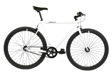 Vélo Fixie FabricBike Original 28 , Fixed Gear, Hi-Ten Acier, Blanc et Noir 2.0