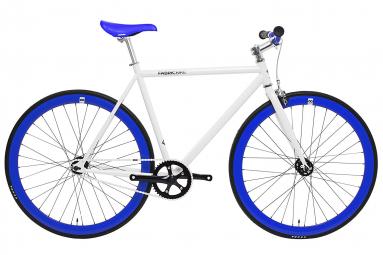 Vélo Fixie FabricBike Original 28 , Fixed Gear, Hi-Ten Acier, Blanc et Bleu