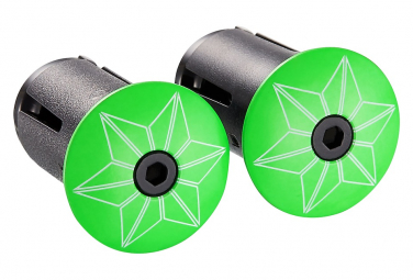 Supacaz Star Plugz Finish Powder coated Neon Green