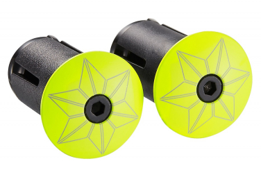 Supacaz Star Plugz Finish Powder coated Neon Yellow