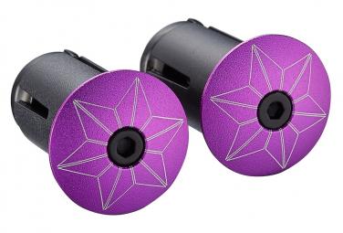 Embout de cintre Supacaz Star Plugz (anodized) Neon Violet
