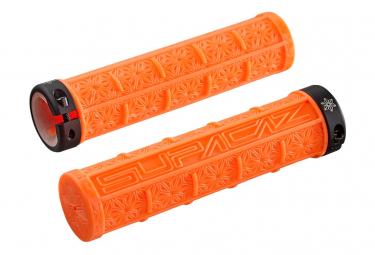 Pair of Supacaz Grizips Grips - Orange