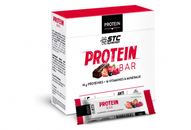 Barres Protéinées STC Nutrition Protein Bar 5 x 45g red fruits