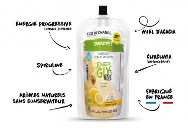 Eco Recharge Gel Overstims Energix Miel BIO Citron Curcuma 250g