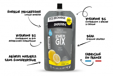 Eco Recharge Gel Overstims Energix Citron 250g