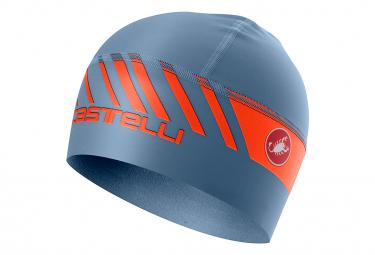 Castelli Arrivo 3 Thermo Under Helmet Light Blue Orange