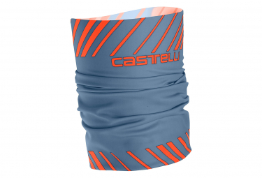Castelli Arrivo 3 Thermo Head Thingy Azul claro Naranja