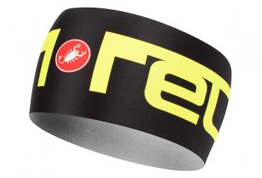 Castelli Viva 2 Thermo Headband Black Neon Yellow