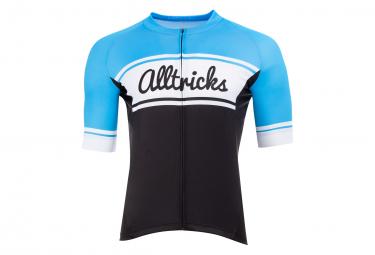 Maillot Manches Courtes Alltricks Vintage Bleu
