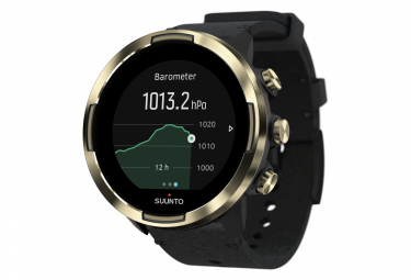 Suunto 9 Baro GPS Watch Black Gold Leather Strap + Silicone Strap