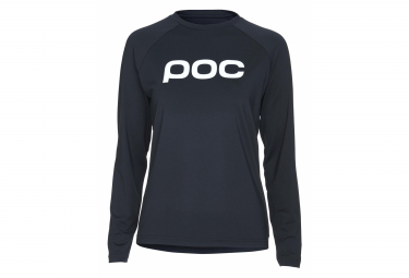 Poc Essential MTB Women Long Sleeves Jersey Uranium Black