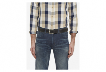 Image of Ceinture wrangler leather stitched