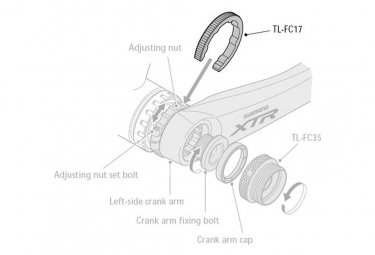 Outil Shimano TL-FC17 pour écrou FCm970