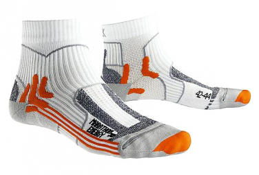 Paire de chaussettes de running X-Socks MARATHON ENERGY blanc Orange