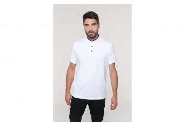 Kariban polo homme col mao manches courtes k223 blanc s