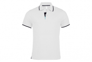 Kariban polo homme inserts contrastes manches courtes k245 blanc s