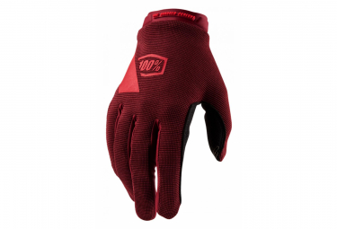100% Ridecamp Womens Glove Brick