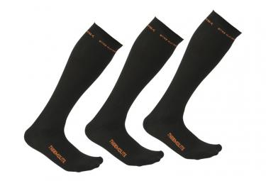 Pack 3 paires de chaussettes Techniques TARMA Noir