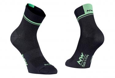 Northwave Socks Logo 2 Black / Lime Fluo