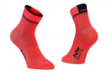 Northwave Socks Logo 2 Orange / Black