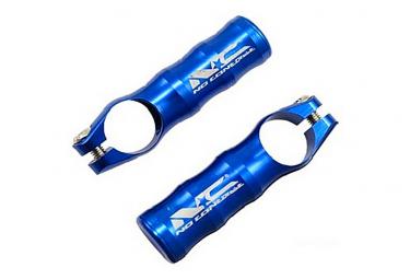 Embout de cintre Aluminium CNC Bleu L.90 mm .