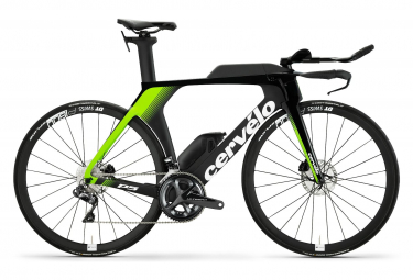 Cervélo P5 Disc Triathlon Bike Shimano Ultegra Di2 11S Black Neon Green White 2019